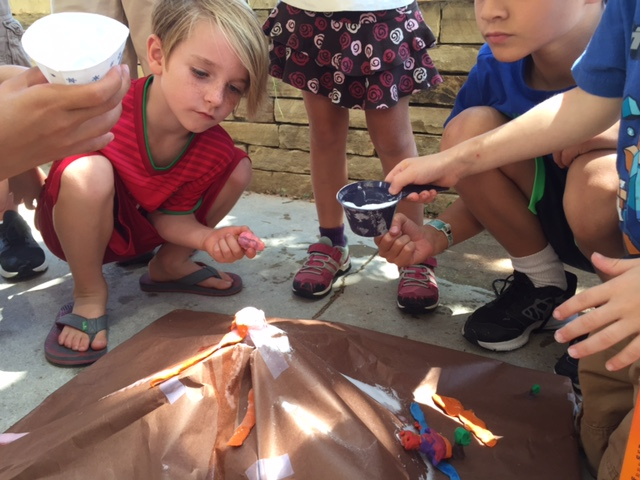 Science & Outdoor Fun: Making a Volcano