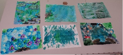 "During the ""Picture This"" camp, campers recreated famous impressionist artwork using a variety of mediums."