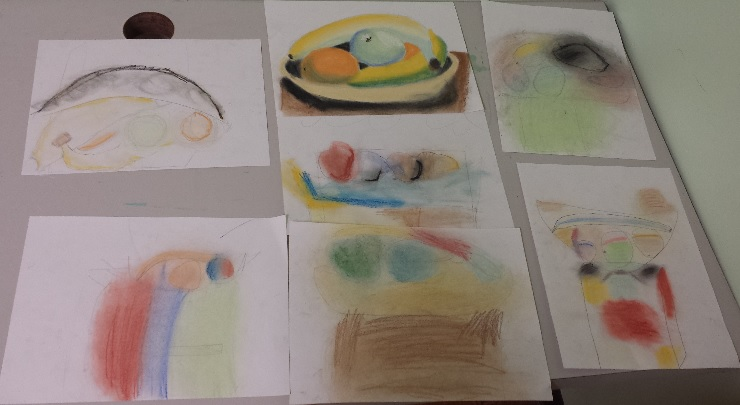 On Tuesday we created 2 still life drawings. One using pen and the other using pastels