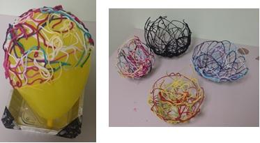 We made yarn bowls.